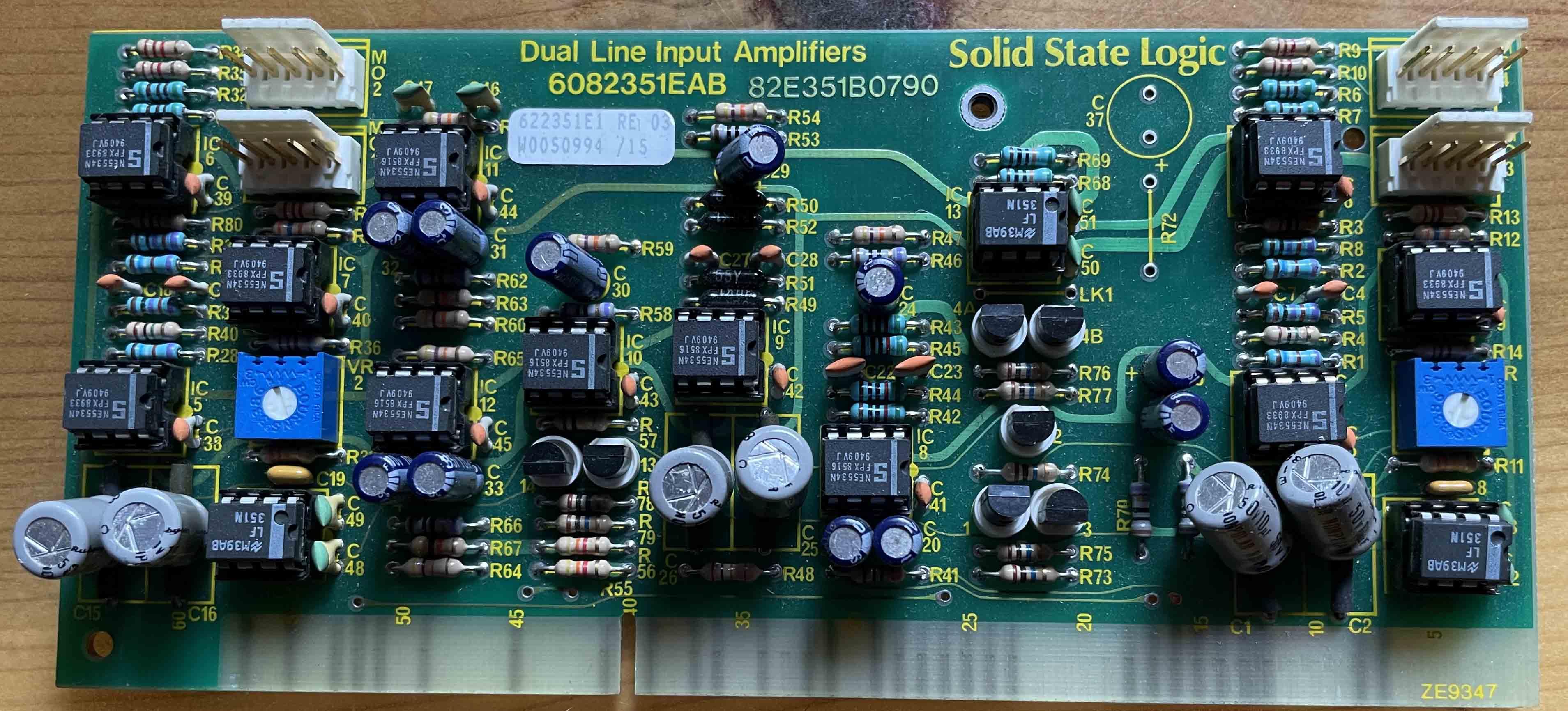Dual Line Input Amplifer Card